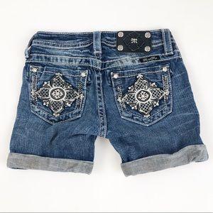 Miss Me ~ Medium Wash Girls Shorts Size 10